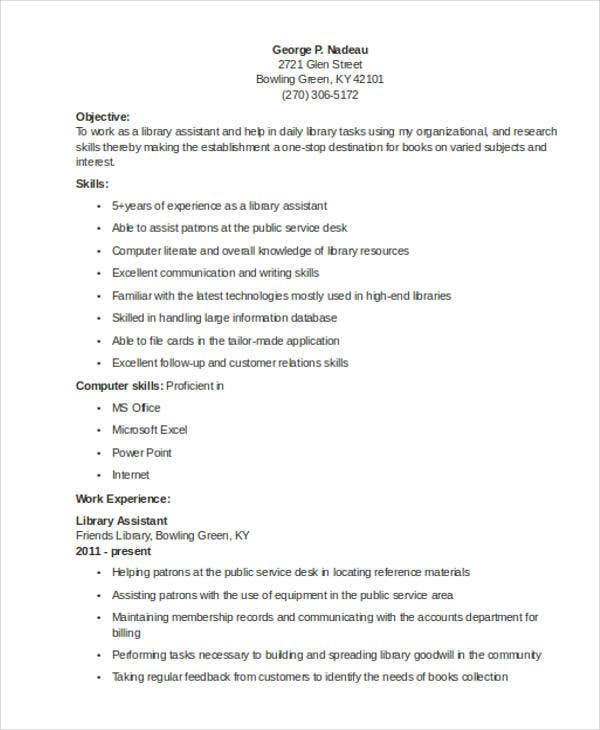 9 Librarian Resume Templates