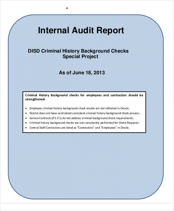 audit background