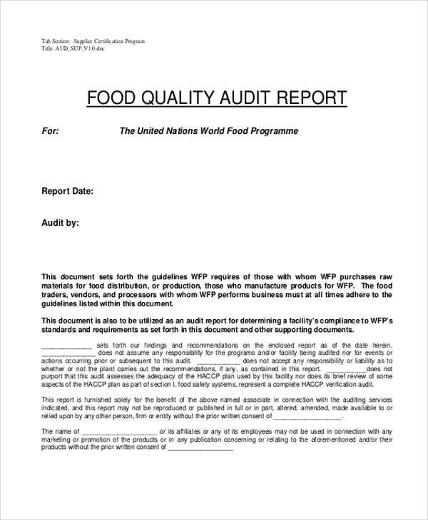 14 quality report templates pdf word pages docs