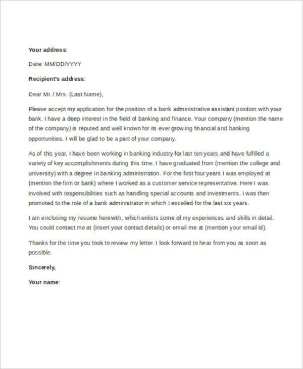 9 Administrative Assistant Cover Letter Templates Free