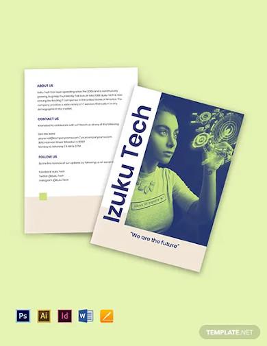 bi fold it business brochure template