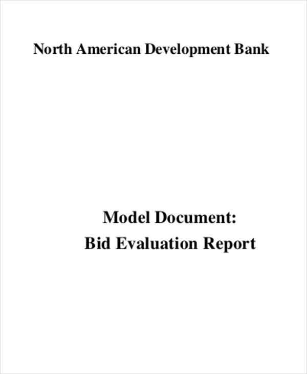 bid report