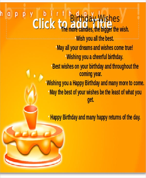birthday wishes powerpoint