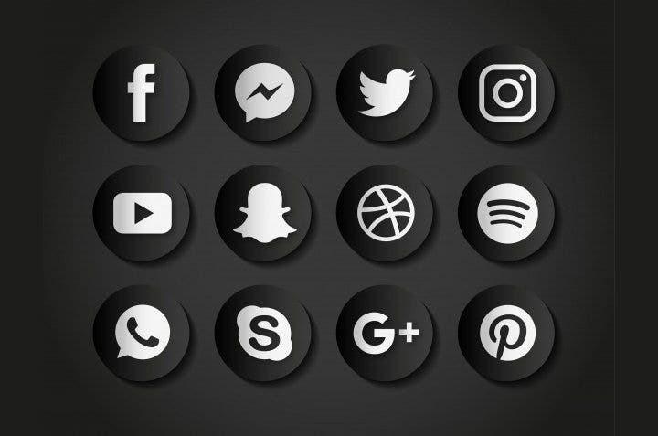 black-social-media-icons