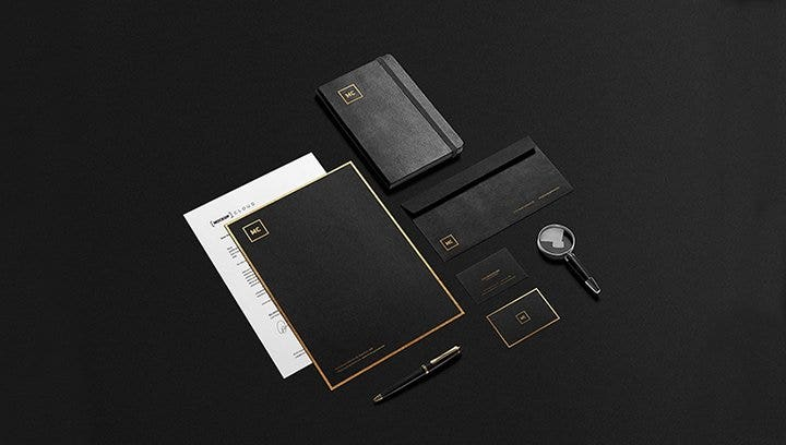 black and gold stationery mockup1