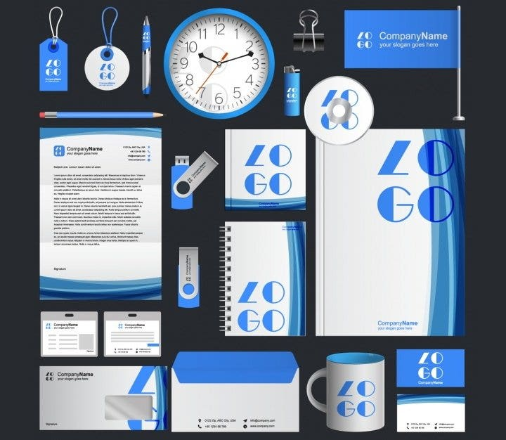 16 free stationery design templates psd jpg vector eps format