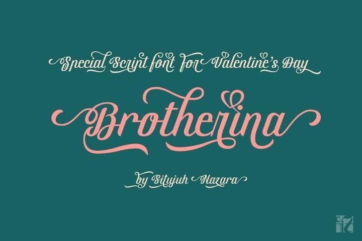 brotherina-script-font1