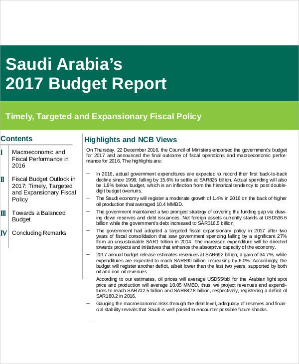 budget report1