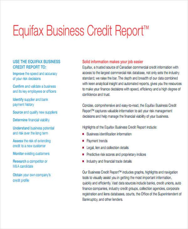 Top 28 sle credit report credit report catalogues for Bureau report