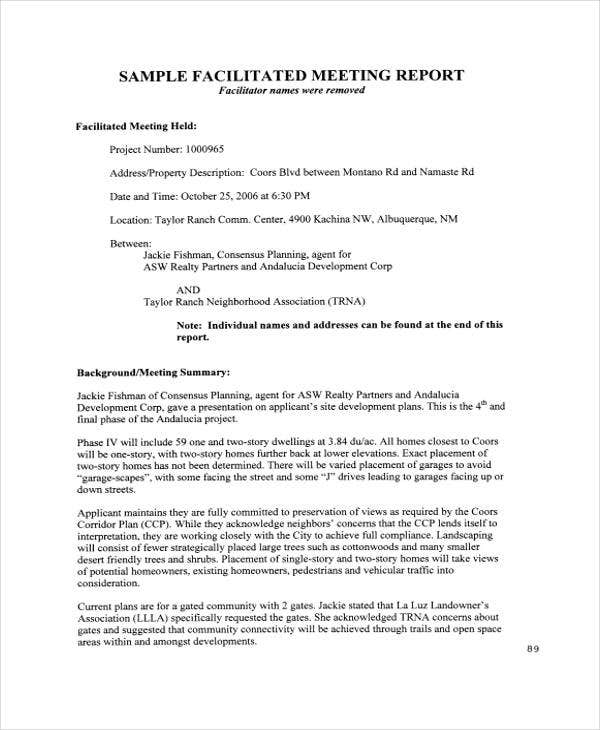 Meeting report templates 12 free word pdf format download free business report3 flashek Choice Image