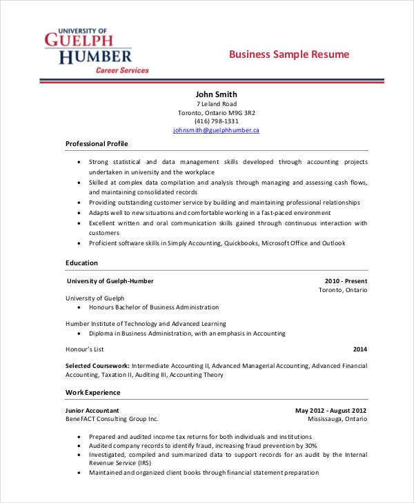 business resume2