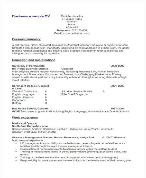 business resume3