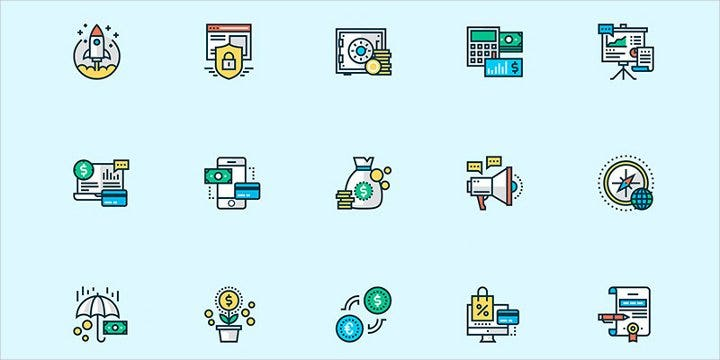 business-sketch-icons