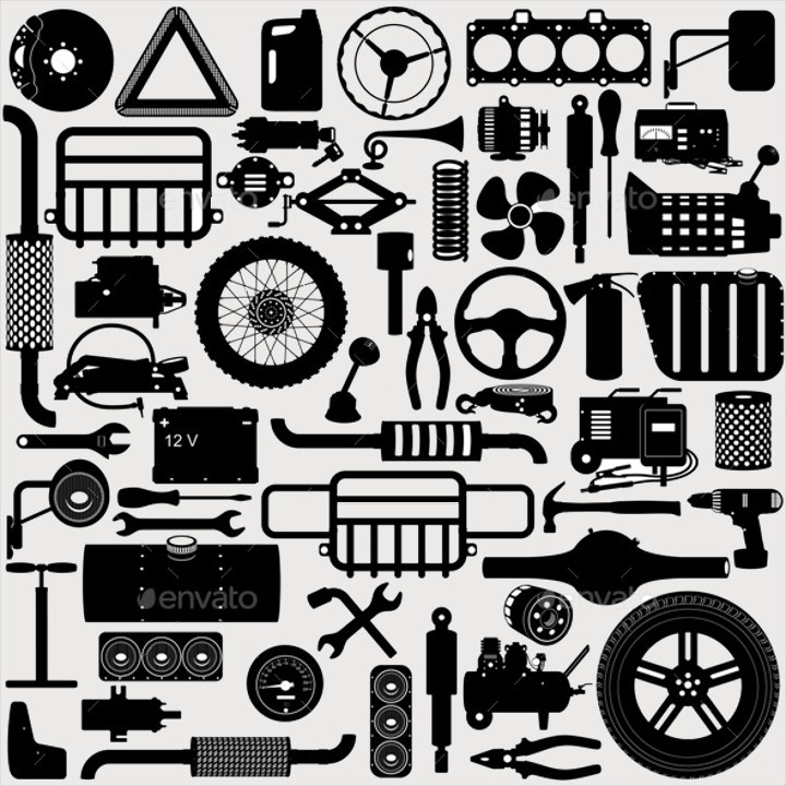 car-parts-pictogram