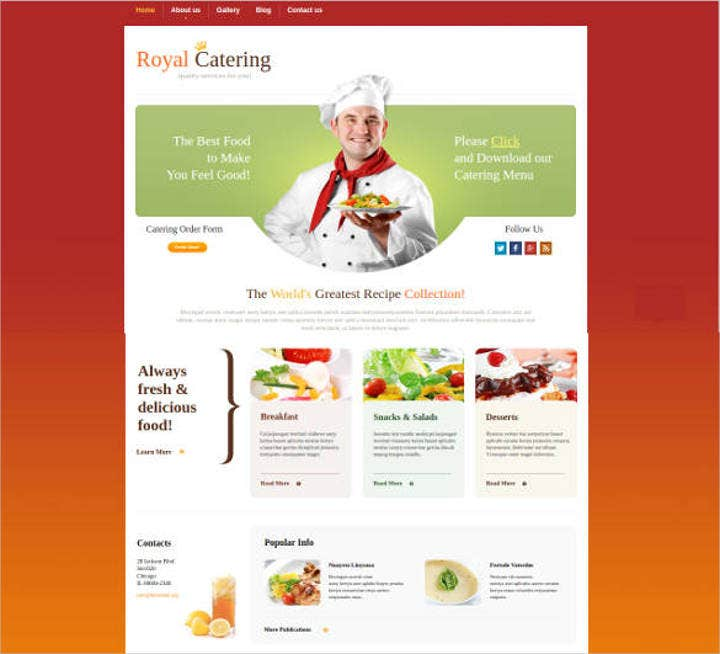 catering-services-website-theme-template
