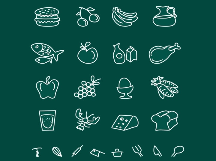 chalkboard-food-icons
