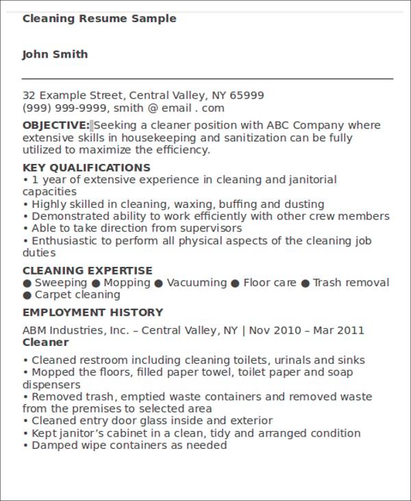 job resume examples 9 free word pdf format download free