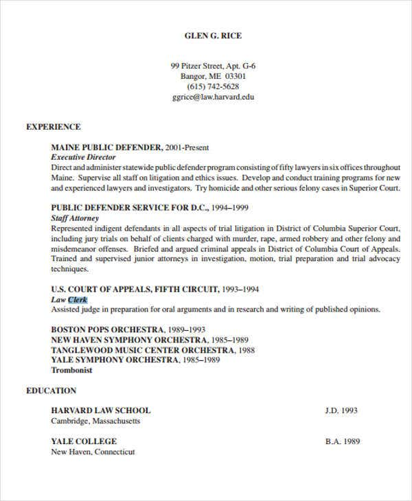 Legal Resumes   Free Word Pdf Format Download  Free  Premium