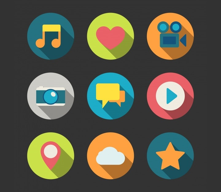 coloured-multimedia-icons