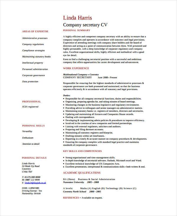 Resume For School Secretary Veterinary Receptionist Cover Letter