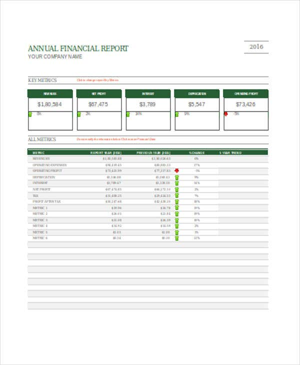 Company And Financial Report Templates  Free Sample Example