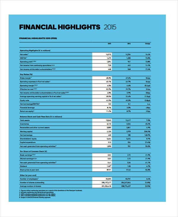 company and group financial report