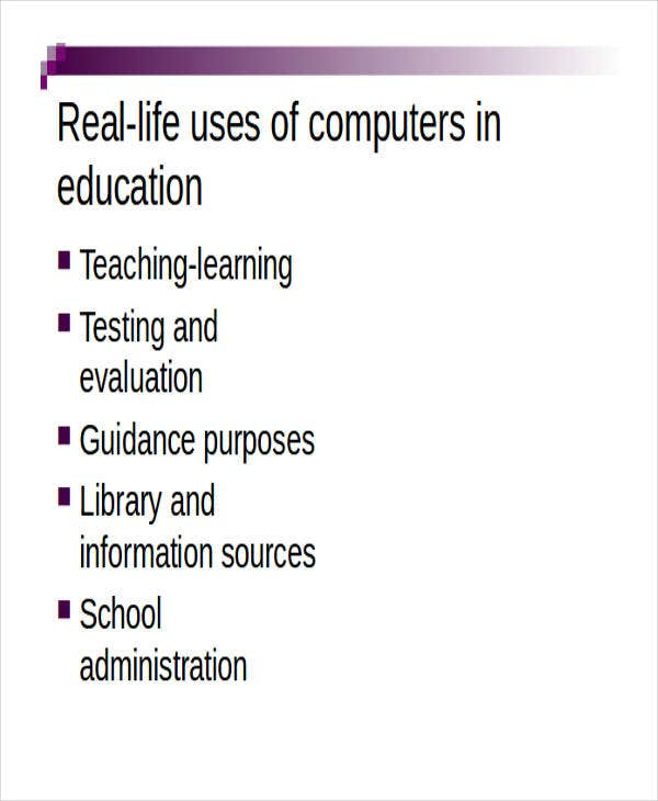 Get informative presentation templates for computer education on.