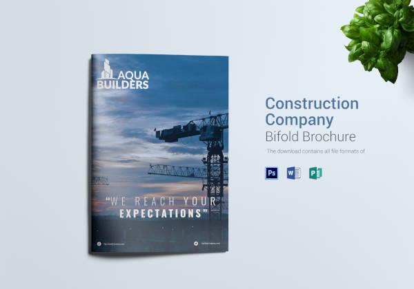 construction company bi fold brochure
