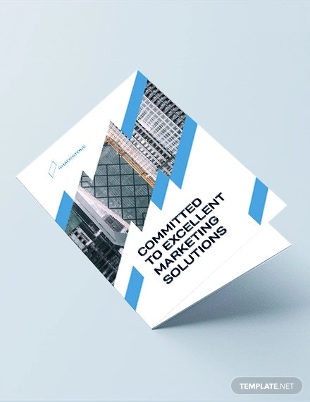 construction marketing bi fold brochure template