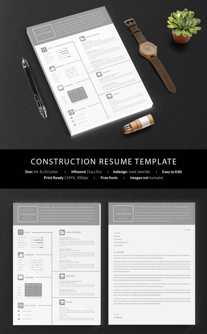 construction-resume-template
