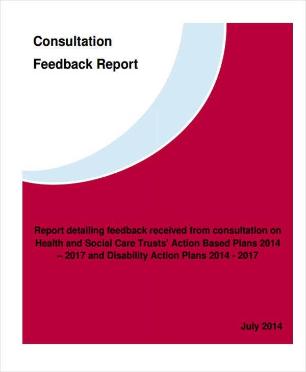 consultation report template