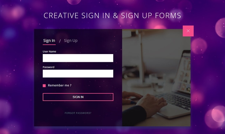 creative-signup-form