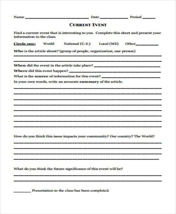 Report writing service example of an events