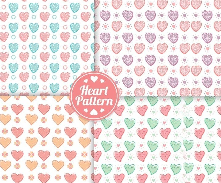 decorative heart patterns1