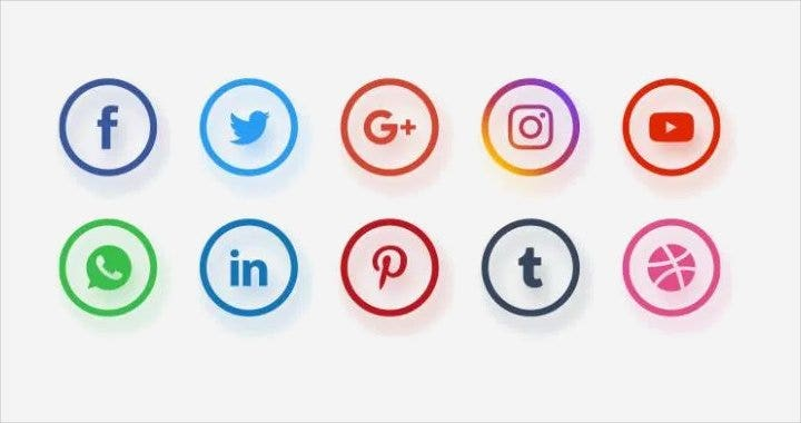 different-social-network-icons