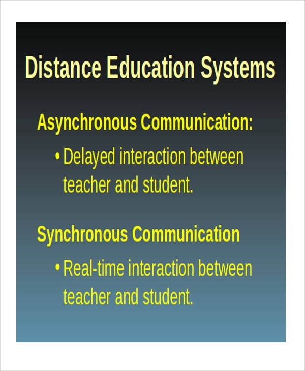 distance powerpoint