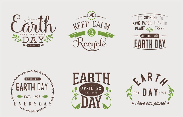 earth day typographic