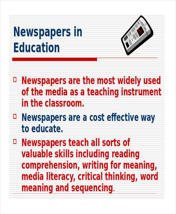 Newspaper Powerpoint Templates  Free Samples Examples Format