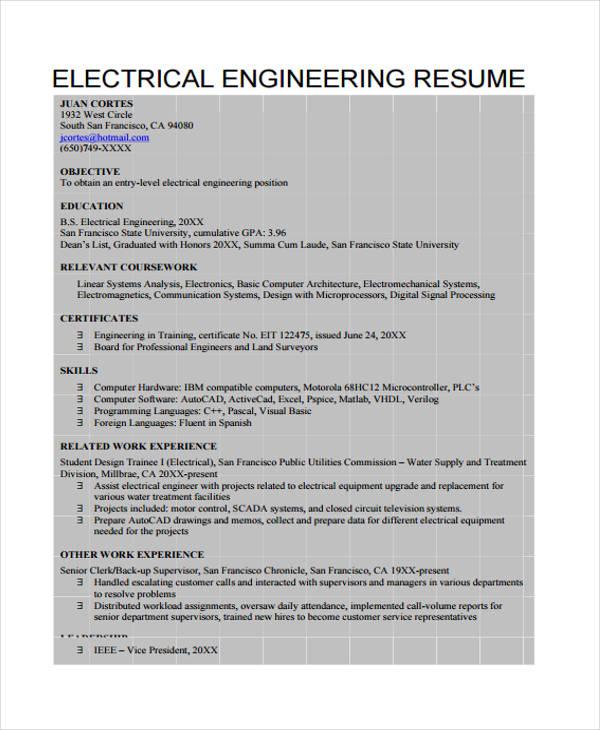 electrical curriculum vitae1