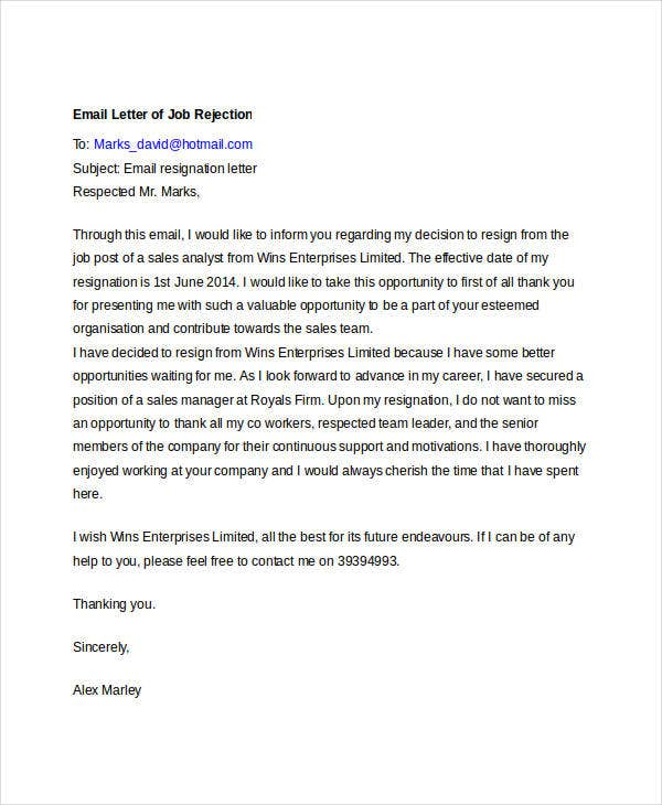 Superb Email Job Rejection Throughout Email After Job Rejection
