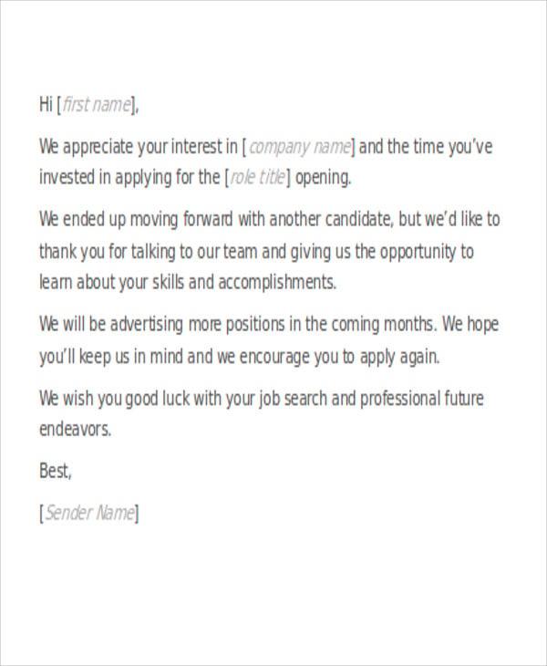 employee letter