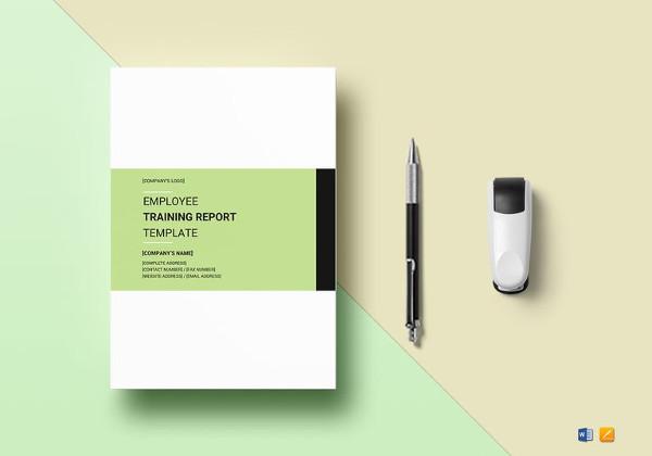 employee training report template2