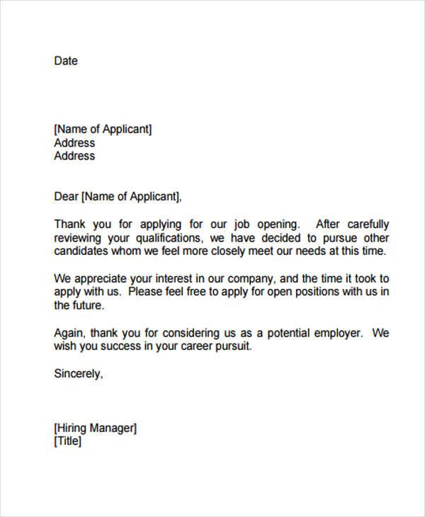 employment application sample