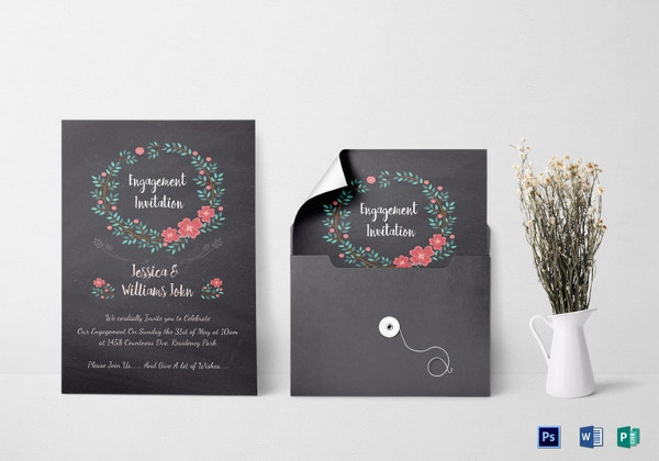 43+ Engagement Invitation Designs PSD AI Vector EPS