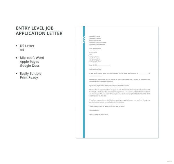 entry-level-job-application-letter-template