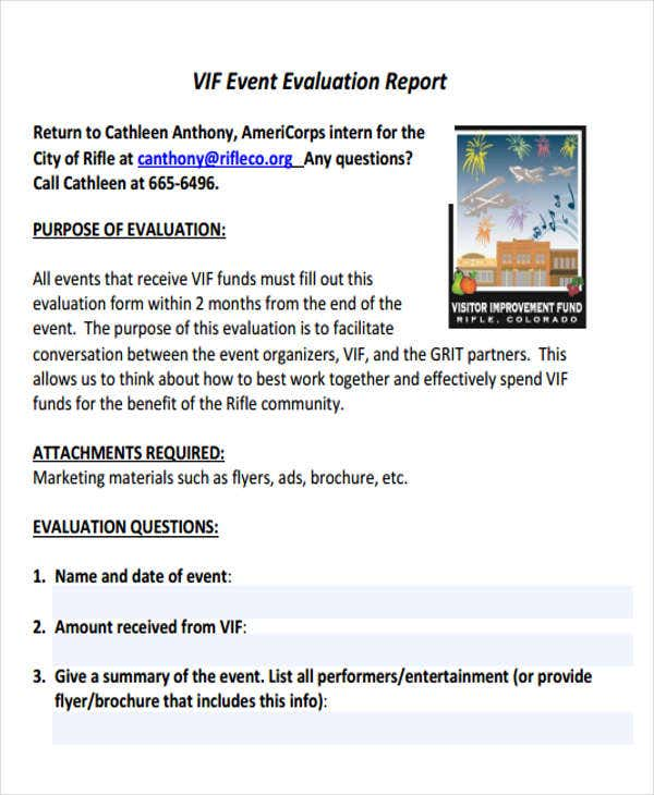 Event Report Templates   Free Word Pdf Format Download  Free