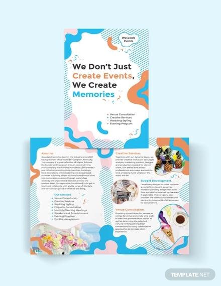 event service bi fold brochure template
