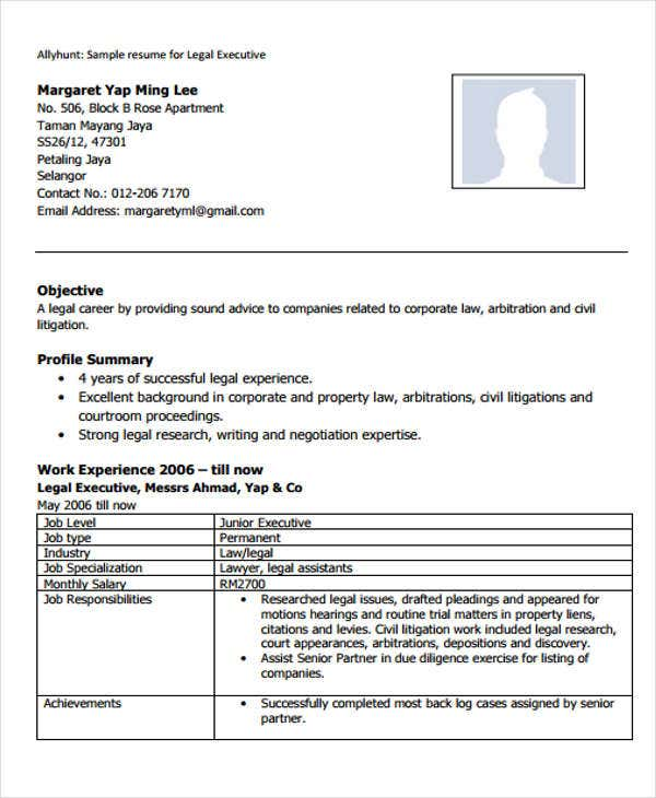 Legal Resume Sensational Idea Legal Resume Format Lawyer Cv