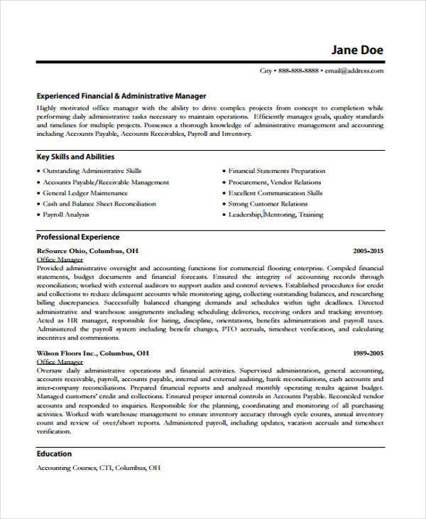 Experienced Office Manager Resume  Office Manager Skills Resume
