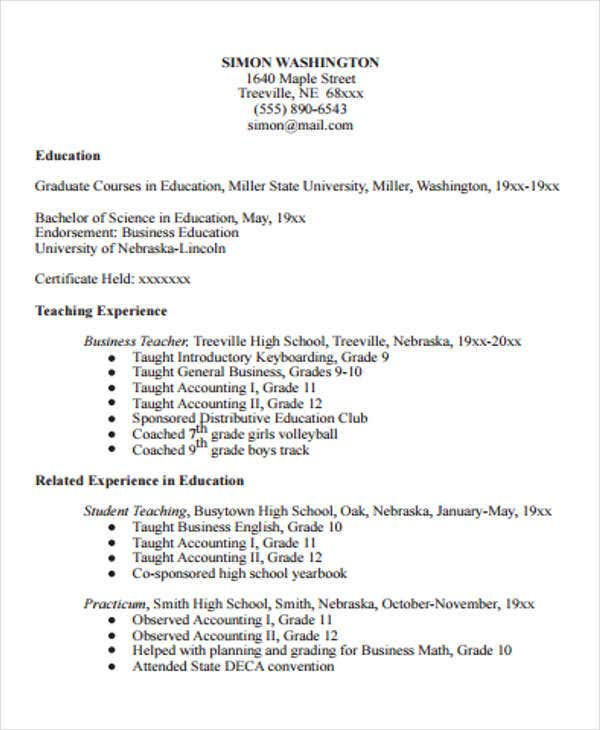 15 Teaching Resume Templates Pdf Doc Free Premium Templates - Student-teaching-resume